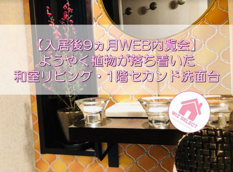 【入居後9ヵ月WEB内覧会】ようやく植物が落ち着いた和室リビング・1階セカンド洗面台